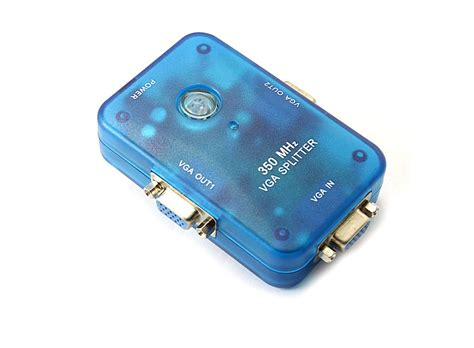 Sale Vga Splitter 2 Port port mini molded vga splitter 2 350mhz hk e01948 buy at