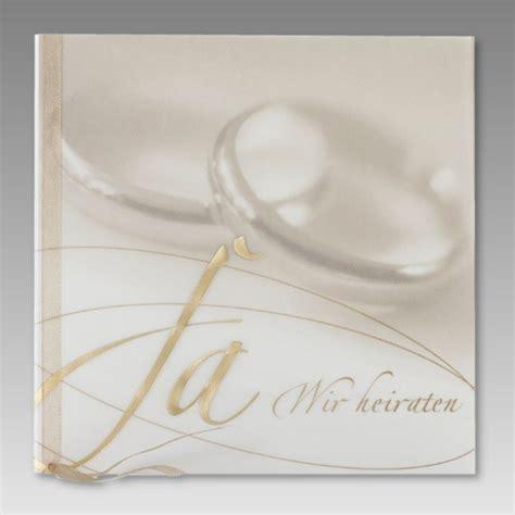 Eheringe Einladung by Einladungskarte Hochzeit Mit Ja Wir Heiraten In Gold