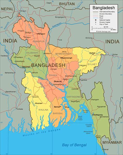 map of bangladesh bangladesh map and satellite image