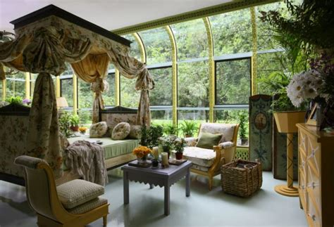 elegant winter garden  rich interior decor