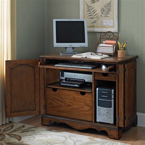 Small Cabinet Desktop Pc Computer Armoires For Home Office