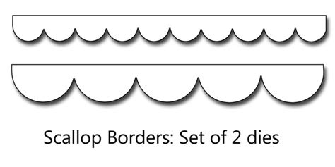 Scalloped Edge Large With Point Card Template by 9 Best Images Of Printable Template For Scalloped Border