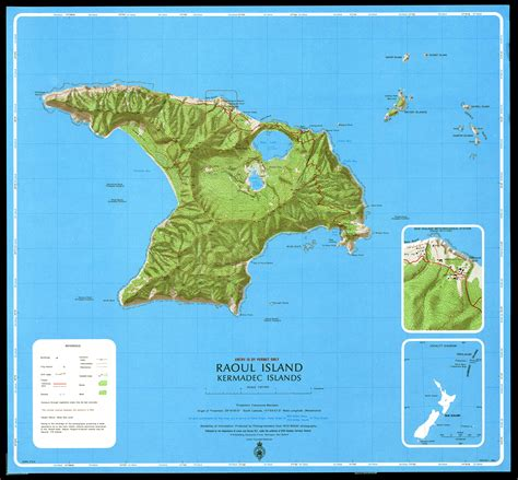 island map kermadec geology and geography