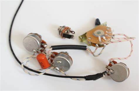 guitar wiring no capacitor strat wiring harness alpha pots 250k quality switch orange drop capacitor 0 022uf for strat 3