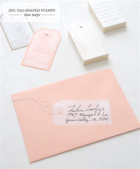 diy tags diy gift tag rubber st sugar cloth