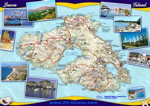 Lesvos Greece Map by Lesvos Lesbos Tourist Map Lesvos Greece Mappery