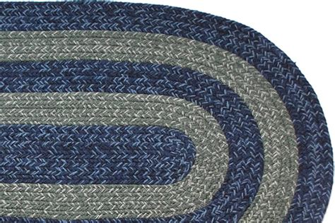 illinois country navy braided rug