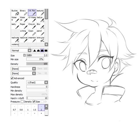 paint tool sai sketching tutorial 39 best paint tool sai brush settings images on