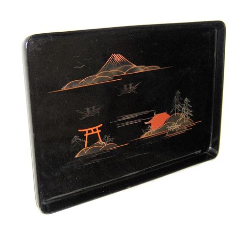 japanese black lacquer small vintage japanese black lacquer tray and 50 similar items