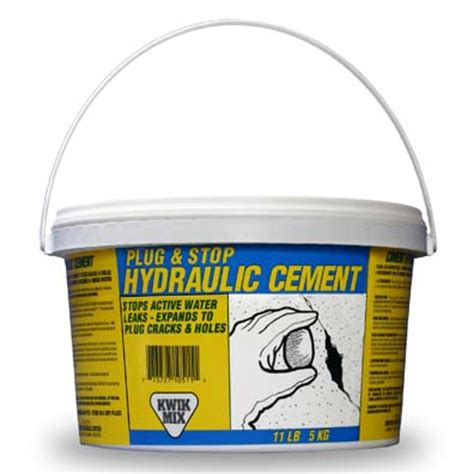 and stop hydraulic cement kwik mix just add water