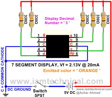 common anode cathode led display 7 segment display common cathode orange color led display emitting decimal digit 3