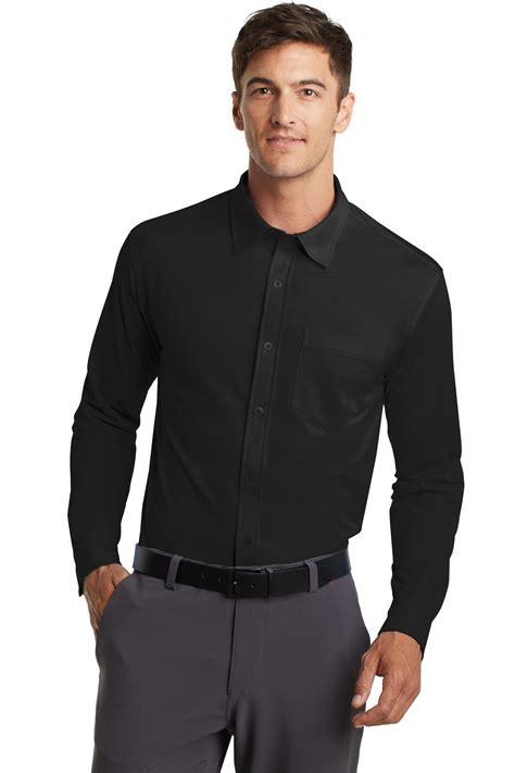 mens knit button shirt port authority dimension knit dress shirt mens oxford
