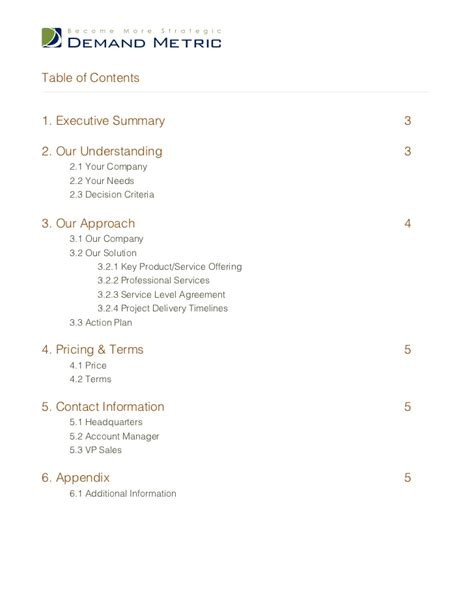 What Is A Service Level Agreement Template sales proposal template