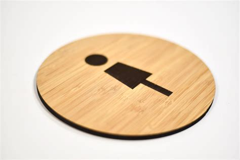 Modern Bathroom Signs by Modern Wood Restroom Signs Contemporary Bamboo Bathroom