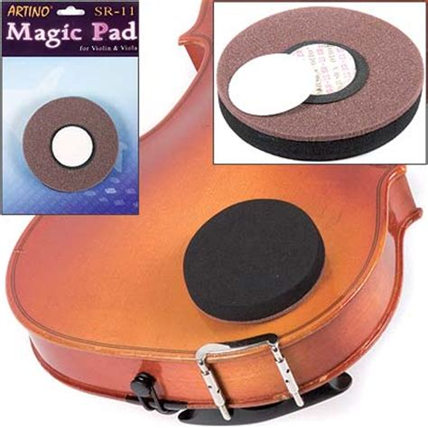 Magic Pad Artino Shoulder Rest Violin Viola Ikan Orange artino sr 11 2 75 quot magic pad for violin and viola shoulder rest alternative