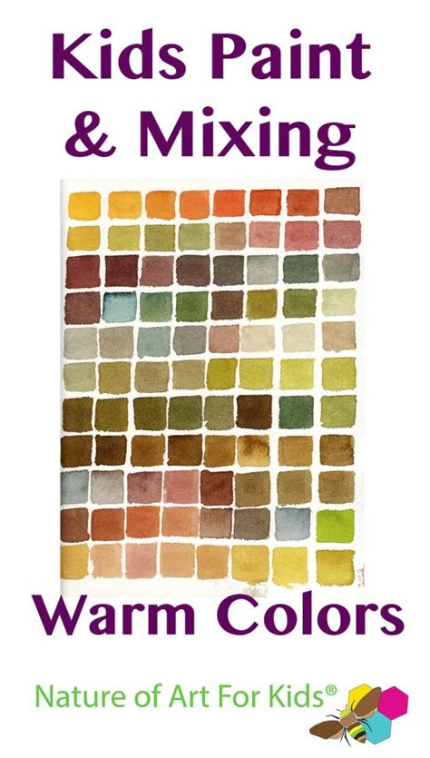 paint mixing colors mixing paint into warm autumn colors painting lesson for