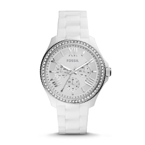 fossil cecile multifunction ceramic white ce1081