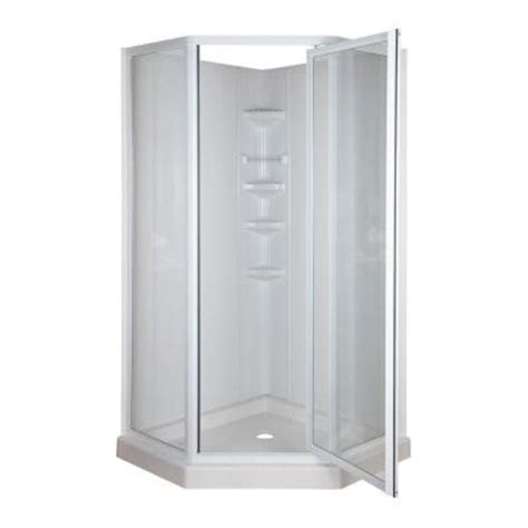 home depot shower neo angle 38 in x 38 in x 74 3 4 in standard fit corner
