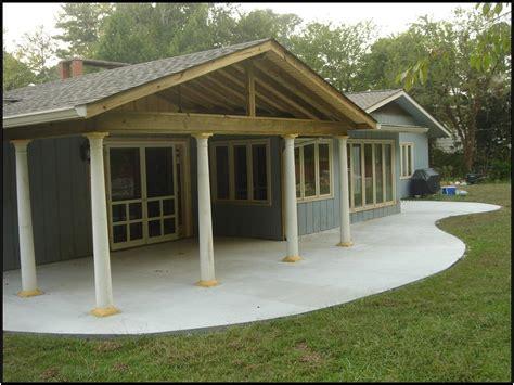 Open Gable Porch Roof Framing Central Open Porch Designs Archadeck Of Central Ga