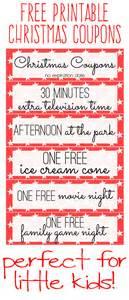 free printable kids christmas coupon books