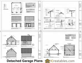 Plans To Build A Garage by 22x22 2 Car 2 Door Detached Garage Plans