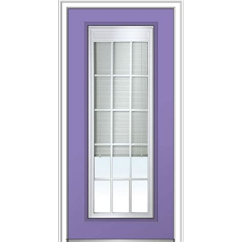 Milliken Millwork 32 In X 80 In Internal Blinds Gbg Low Blinds For Front Doors With Glass