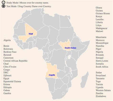 maps 4 africa an interactive study map of states africa is a