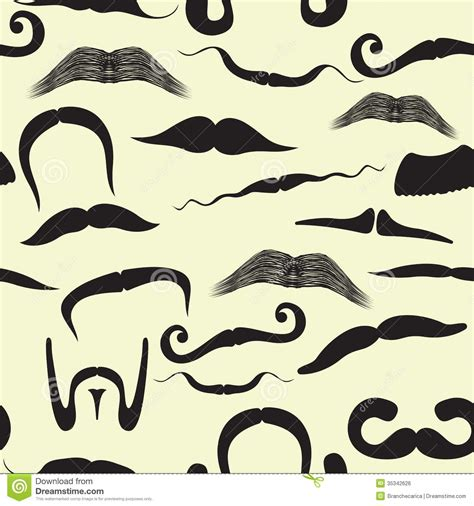 moustache stock images royalty free images vectors seamless mustache pattern stock vector image of pattern 35342626