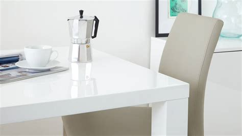 Elise Mini Table L Modern White Gloss Kitchen Dining Set Square Table And Modern Chairs