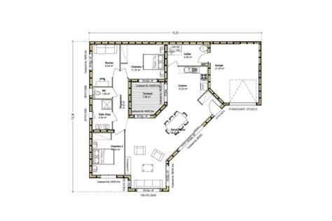 plan de maison avec patio maison bois avec patio constructeur maison bois arcadial