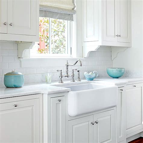 Sink And Faucet Set Turquoise Kitchen Accents Transitional Kitchen Bhg