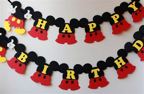 design banner mickey mouse mickey birthday decorations mickey mouse birthday banner 1st