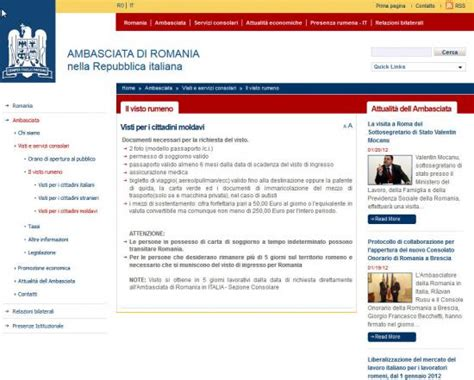 romania permesso di soggiorno romania visto permesso e carta di soggiorno ambasada