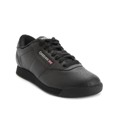 reebok black sneakers reebok princess sneakers in black lyst