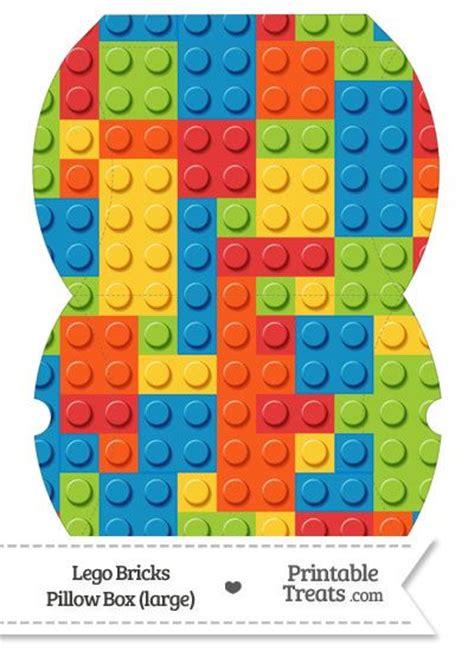 Large Lego Bricks Pillow Box Https Www Pinterest Com Printabletreats Lego Theme Printables Large Pillow Box Template