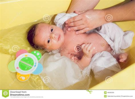 baby born in bathroom newborn baby taking a bath stock image image of adorable