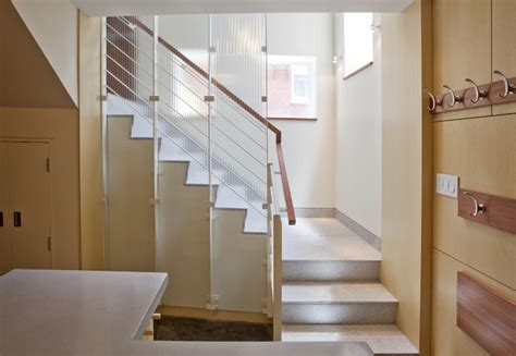 end townhouse stair modern staircase boston by lda architecture interiors