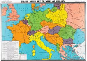 Europe Map 1919 by Europe After The Treaties Of 1919 1924 History Map