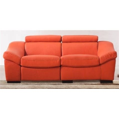 orange leather sofa esf style leather reclining sofa in orange 80213