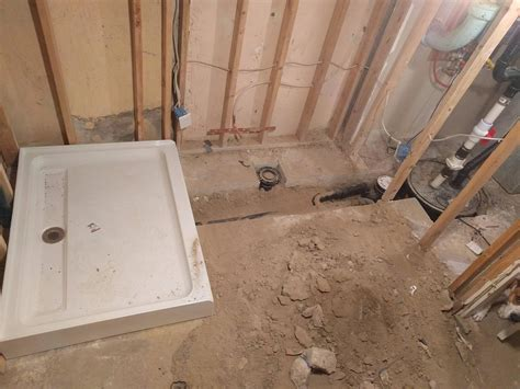 pouring a shower pan on concrete slab 28 images diy