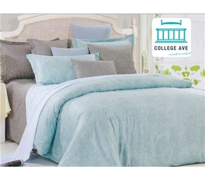 dormco bedding leisure twin xl comforter set college ave designer
