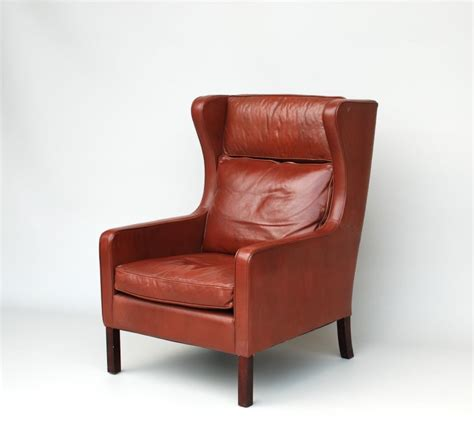 wing armchair danish leather wing armchair in the mogensen style