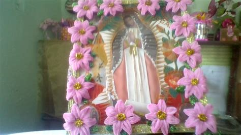 como decorar para la virgen de guadalupe 12 de dic dia de la virgen de guadalupe idea para adornar