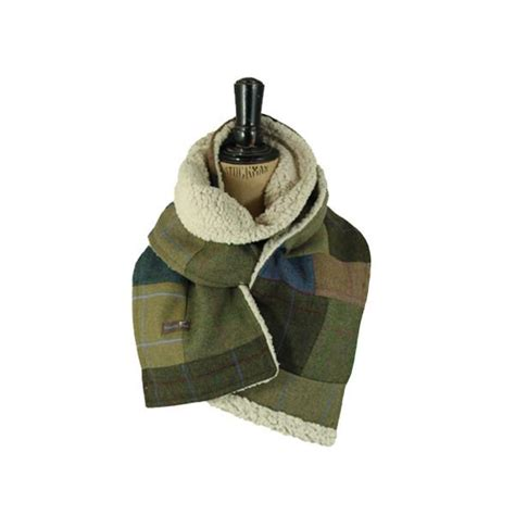 Tweed Patchwork - fleecy patchwork tweed scarf timothy foxx