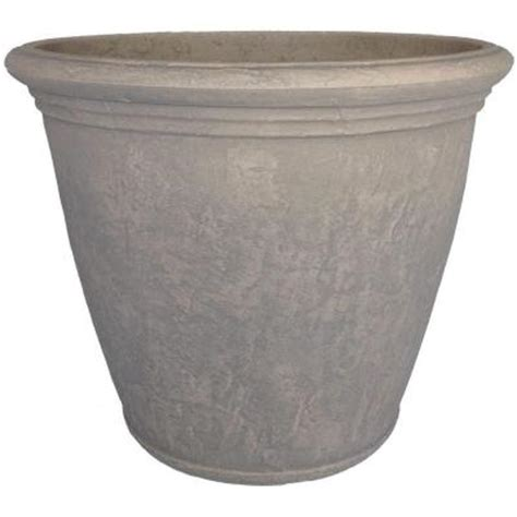 Home Depot Planter by Planters 24 In Dove Gray Resin Kiri Planter