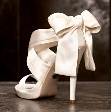 shoes wedding white satan open toes ribbon high