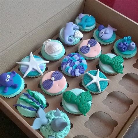 Pink And Blue Baby Shower by Best 25 Mermaid Cupcakes Ideas On Pinterest Sea
