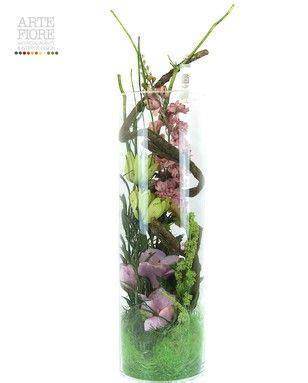 composizione di fiori finti in vasi di vetro composizione floreale fiori artificiali in tessuto natura