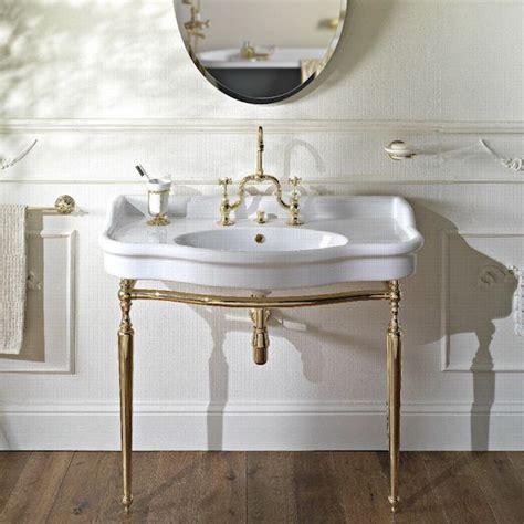 old fashioned bathroom furniture palladio 100cm console basin on metal wash stand