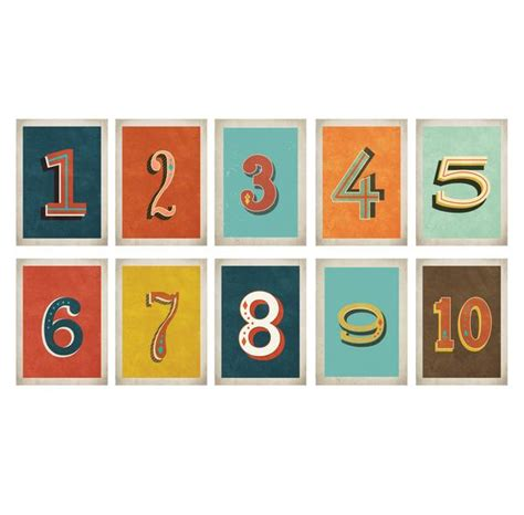 free printable vintage numbers vintage number 5 x 7 wall card digital download printable